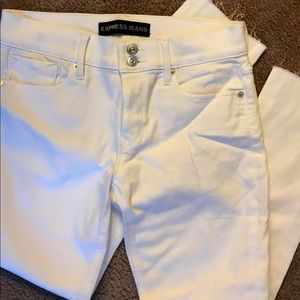 NWT Express white skinny jeans